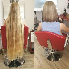 Beautiful Long Hair, Amazing Hair, Before And After Haircut, Rapunzel Hair, Hair Shop, Super Long Hair, Long Hair Cuts, Bob Hairstyles, Short Hair Styles