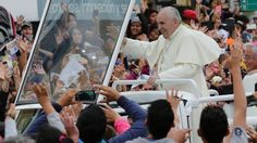 Pope Francis Makes Latin America Visit About 'Most Fragile ... Most Vulnerable' PHOTO: Pope Francis waves to the crowd as he rides aboard the Popemobile in the streets of Quito, Ecuador, Sunday, July 5, 2015.