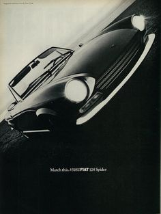 1968 Vintage Car Ad, Fiat 124 Spider by classic_film on Flickr.