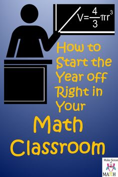 How to start the year off right in your math classroom. Two VERY important items to focus on that will start your year off on the right foot.