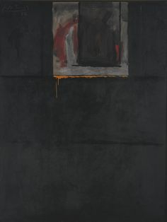 Robert Motherwell signed and dated 72; signed, titled and dated 27 October 1972 on the reverse acrylic on canvas 71 3/4 by 54 in