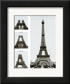 Construction of the Eiffel Tower Art Print by Boyer Viollet at Art.com