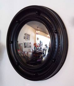 black porthole mirror