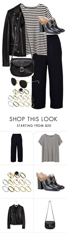 """""""Untitled #9766"""" by nikka-phillips ❤ liked on Polyvore featuring Boohoo, Proenza Schouler, ASOS, Gucci, Yves Saint Laurent, J.W. Hulme Co. and Ray-Ban"""