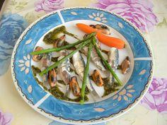 Sardines   carotte   asperges   moules  et  pesto  de  menthe    Gino  D'Aquino.