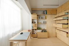 20 Inspiring Artist Studio Designs - wall of by it in flat drawer storage! Perfect
