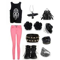 """""""cute outfit for punk people"""" by lizzypayne1021 on Polyvore"""