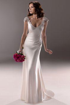 Asymmetric Mermaid Wedding Dress With Asymmetric Waist In Silk