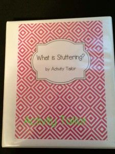 What is Stuttering?  Interactive notebooks for therapy and classroom lessons.