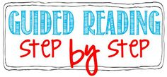Kindergarten Guided Reading Step by Step!