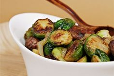 Maple-Glazed Pan-Roasted Brussels Sprouts with Chestnuts Recipe