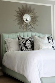 mint green bed