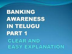Banking Awareness Part 1 In Telugu - YouTube