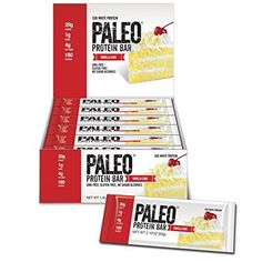 Paleo Protein Bar (Vanilla Cake), 12 Pieces: Our Paleo Protein Bars were specifically designed with Organic Prebiotic Fiber from Tapioca which helps improve digestion and make your stomach feel amazing while curbing appetite (up to 4 hrs without bloating) Grain Free, Dairy Free, Gluten Free, Paleo Protein Bars, High Protein, Julian Bakery, Protein Meal Replacement, Egg White Protein, Dessert Packaging