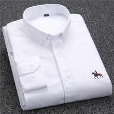 Plus size New OXFORD FABRIC COTTON excellent comfortable slim fit button collar business men casual shirts tops Business Shirts, Business Casual Men, Branded Shirts, Casual Shirts For Men, Men Casual, Smart Casual, Men Shirts, Shirt Men, Collar Shirts