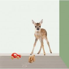 Muursticker Hertje Zara, Where The Heart Is, Kids Bedroom, Kangaroo, Giraffe, Poppies, Baby Kids, Wall Decor, House Styles
