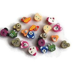 20 perles fimo animaux kawaii lot 04