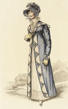 1815 Autumnal Walking Dress. Fashion Plate September 1815 Credited to John Bell (La Belle Assemblée) collections.lacma.org
