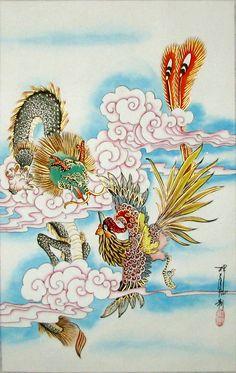 chinese-painting-dragon-phoenix