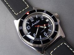 Murphy bezel modification to the Vostok Amphibia Seiko Mod, Vostok Watch, Time Capsule, 316l Stainless Steel, Cool Watches, Product Launch, Cases, Chronograph, Accessories