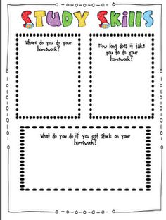 Printables Study Skills Worksheets Middle School study skills and time management on pinterest getting to know you love this for the first week of school