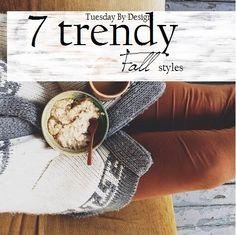 7 Trendy Fall styles I love #fashion #style #beauty