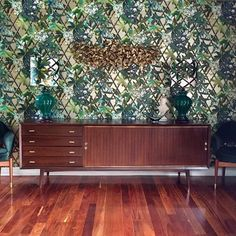 """Canopy"" - Christian LaCroix Antique Living Rooms, Tropical Wallpaper, Brutally Honest, Brick And Mortar, Designers Guild, Christian Lacroix, Brutalist, Trellis, Canopy"