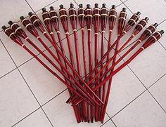 iapyx® Gartenfackel Bambusfackeln Bambus Fackeln Öllampen Windlicht Partylicht Garten Hochzeit Fest Silvester (Braun, 90cm)