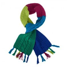Kickle Green Cable Knit Scarf