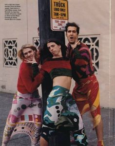 Dave, Kurt, and Krist posing for an imaginary Cover Girl shoot.