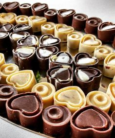 Chocolates para banquete de bodas.