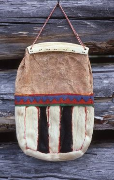 Reindeer skin bag. Inari Sami people, Lapland, Northern Finland.