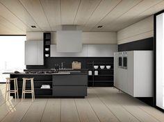 """Modern kitchen """"Lucrezia"""" - A dream kitchen with a lot of comfort Kitchen Dinning, Home Decor Kitchen, Kitchen Interior, Beautiful Kitchen Designs, Contemporary Kitchen Design, Kitchen Backsplash, Kitchen Cabinets, Küchen Design, House Design"""