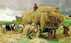 Julien Dupre(1851-1910)-REALİSM-(Autumn Harvest)