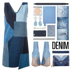 """oh my denim"" by foundlostme ❤ liked on Polyvore featuring M.i.h Jeans, Electric Picks, Gianvito Rossi, STELLA McCARTNEY, Smythson, Burberry, Giorgio Armani, rms beauty, Valextra and Chanel"