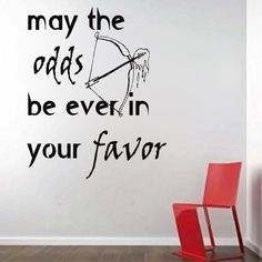 Something to brighten your day! Hunger Games Insp... Check it out here. http://kreative-decals.myshopify.com/products/hunger-games-inspired-may-the-odds-be-ever-in-your-favor?utm_campaign=social_autopilot&utm_source=pin&utm_medium=pin