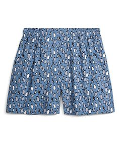 Traditional Fit Penguin Print BoxersLight Blue