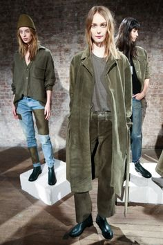 Soft and suedey, with the perfect dose of Military minimalism at #SimonMiller presentation.