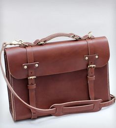 women bags Hand-Stitched Leather Briefcase | Women's Bags & Accessories | W Durable Goods | Scoutmob Shoppe | Product Detail fashion women bags