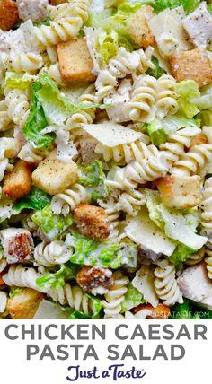 Best Salad Recipes, Chicken Salad Recipes, Healthy Recipes, Chopped Salad Recipes, Chicken Salads, Chicken Caesar Pasta Salad, Ceasar Salad, Tortellini Salad, Macaroni Salad