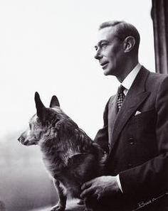 King George VI with one of his corgis, 1948.
