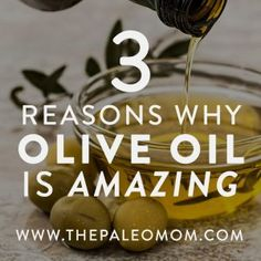 Olive oil has been used for centuries and is simply one of the least controversial fats in use no matter what our nutritional philosophy might be. Paleo Mom, Salad With Sweet Potato, Healthy Sides, Superfood, Olive Oil, Dinner Recipes, Nutrition, Philosophy, Healthy Recipes