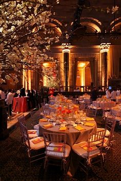 Warm winter gala dinner setting.
