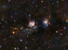 VISTA views Messier 78 This richly detailed view of the star formation region Messier in the constellation of Orion (The Hunter), was taken with the VISTA infrared survey telescope at ESO's Paranal Observatory in Chile. As well as the blue. Interstellar, Cosmos, Infrared Telescope, Orion's Belt, Astronomy Pictures, Star Formation, Space Photos, Light Year, New Star