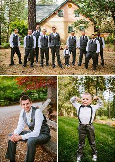 Great look for a Fall wedding! #Bride #Groom #Groomsmen #FallWedding
