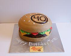 Cheeseburger Cake #cakesbymeg