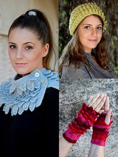 """Show off this new innovative stitch pattern from Annie's Signature Collection!   Headband is knit with 1 skein of Premier® Yarns Ever Soft using U.S. size 8/5mm needles. Finished measurements: Length: 20""""; Width: 4 1/2"""".    Cowl is knit with 3 skeins of Premier® Yarns Deborah Norville Alpaca Dance™ using U.S. size 7/4.5mm needles. Finished measurements: Circumference: 29""""; Height: 10"""".   Wrist warmers are knit with 1 skein of Universal Yarn Uptown DK using U.S. size 6/4mm needles. Finished…"""