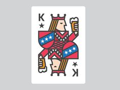 Playing Cards Art, Custom Playing Cards, Playing Card Design, Illustration Sketches, Illustrations And Posters, King Card, Pokerface, Trump Card, Abstract Logo