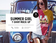 """Check out new work on my @Behance portfolio: """"Summer Girl T-Shirt Mock-Up"""" http://be.net/gallery/58292211/Summer-Girl-T-Shirt-Mock-Up"""