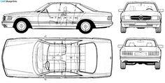 1985 Mercedes-Benz S-Class C126 560 SEC Coupe blueprint